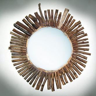 specchio. Rivestimento in legno _Antonio Arca