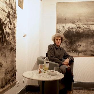 Petra Fröning nach dem sehr gut besuchten Eröffnungsabend in der Galerie ART-ECK,  Solingen
