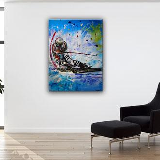 FREERIDE - Skifahrer Bild Gemälde