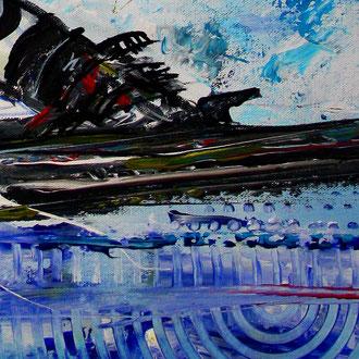 FREERIDE - Skifahrer Bild Gemälde - Deutscher