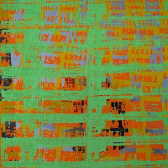 Serigraphie auf C-Print, Acryldispersion, Unikat, 30x40 cm, 2004