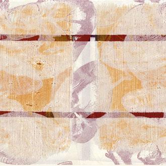 Serigraphie, Acryl, Eisen auf c-print, 20 x 30 cm
