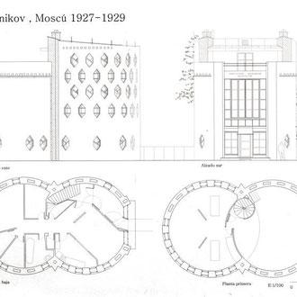 Casa Melinkov. Moscú. 1927 - 1929