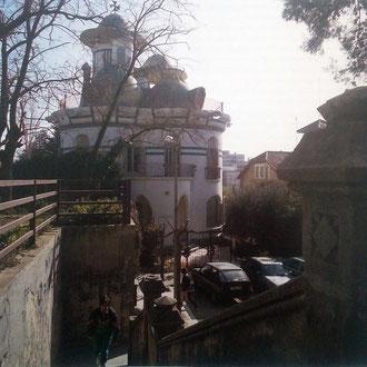 Toni Catany. Torre de la Creu des de les antigues escales de l'estació. Cases modernistes de Catalunya. 1991.