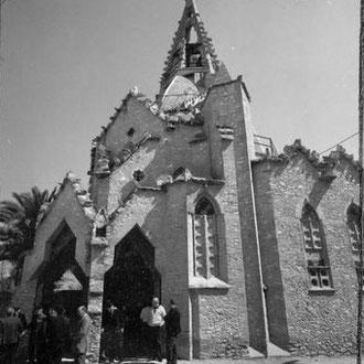 Francesc Català-Roca. Església de Vistabella. Imatge extreta del full de contacte. 1970. Fons Fotogràfic F. Català-Roca de l'Arxiu Històric del Col·legi d'Arquitectes de Catalunya