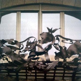 Toni Catany. Barana de ferro de La Pedrera. Cases modernistes de Catalunya. 1991.