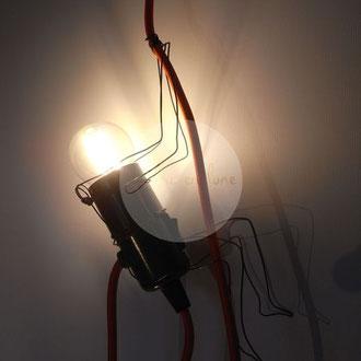 """""""Acrobates"""" 2 grimpeurs fil de fer 3D de Arc en Lune 2x2W led avec prise murale"""