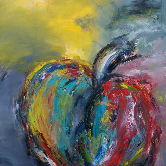 Zin in appel  100 x 70 cm