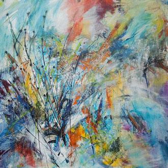Trouble in Paradise 100 x 100 cm verkocht