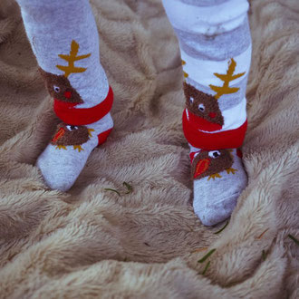 Weihnachts-Socken Robin