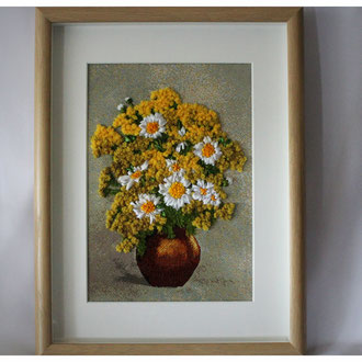 """Bunte Blumen in Vase"""