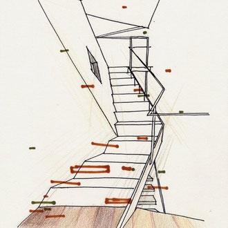 Architekturstudium Treppe Zeichenkurs © Cecily Park, , Alle Rechte vorbehalten