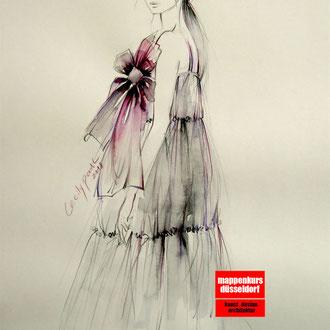 Modedesign Mappenvorbereitung Zeichnen © Cecily Park, Alle Rechte vorbehalten