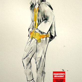 Modezeichnen, Mappenkurs Düsseldorf  © Cecily Park, Alle Rechte vorbehalten