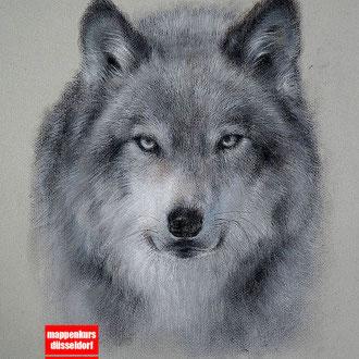 Tierzeichnen, Zeichnen mit Pastell, Zeichnen lernen, Mappenkurs Düsseldorf