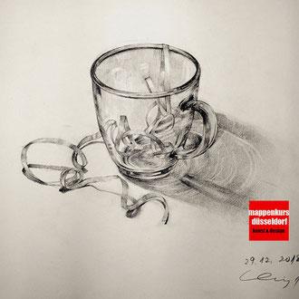 Zeichnkurs, Zeichnen lernen Glaszeichnen Kunstschule Düsseldorf