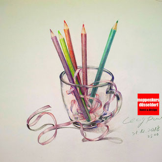 Zeichenkurs für Fortgeschrittene Kunstschule Düsseldorf