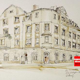 Architektur skizze, Architektur Sketching, Architekturzeichnen für Fortgeschrittene, Zeichnen Architektur, Mappenkurs Düsseldorf