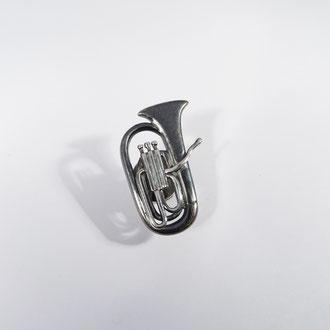 Bb-Tuba/Euphonium-Pin in geschwärztem Silber 925, CHF 250.-