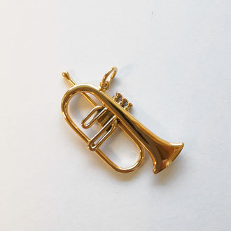 Flügelhorn-Anhänger in vergoldetem Silber 925, CHF 300.-