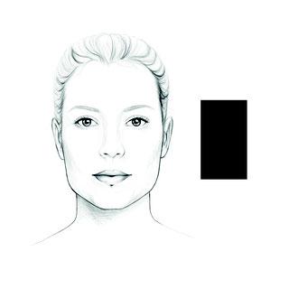 das rechteckige Gesicht