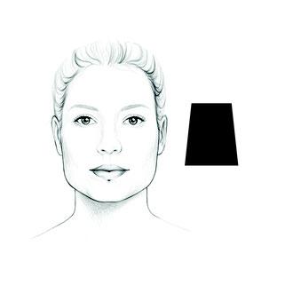 das trapezförmige Gesicht
