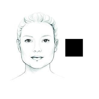 das quadratische Gesicht
