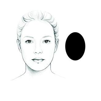 das ovale Gesicht