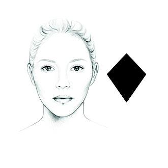 das diamantförmige Gesicht