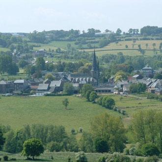 Le paisable village de Charneux, près de Herve