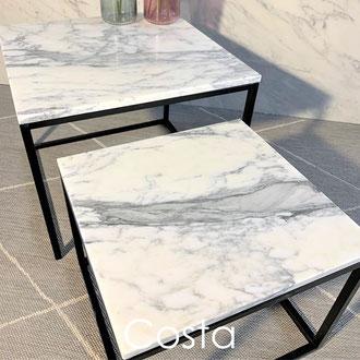 Costa Italian marble side table