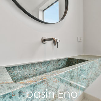 Marble basin with single sink