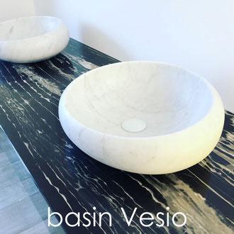 Massive marble basin