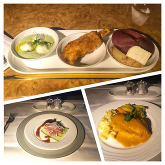 Essen auf dem Flug nach Dubai