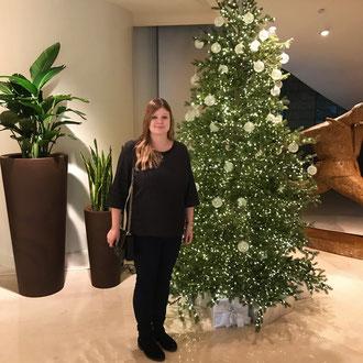 Weihnachtsbaum im Hotel