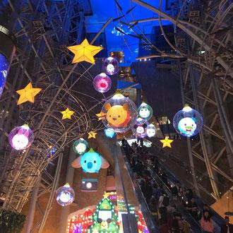 Weihnachtsdeko in einem Kaufhaus
