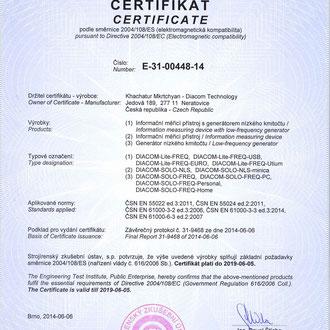 Certyfikat na całą EUROPĘ