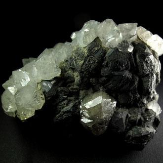 Cerrusit, Galenit, Bergkristall, Bad Bleiberg, Kärnten Österreich - Stufenbreite ca. 6cm