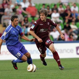 Maillot porté par J.CARDY Lors du  1er  tour de la coupe de la ligue Face a Bastia le 01/08/2009