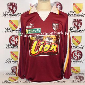 Maillot Porté ESPARTERO Coupe de la ligue 2004 FC METZ