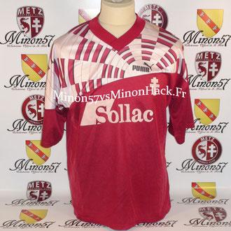 Maillot porté par David ZITELLI  Saison 1992/1993 FC METZ