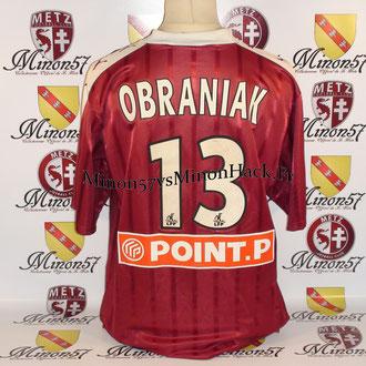 Maillot Porté OBRANIAK Coupe de la ligue 2003 FC METZ