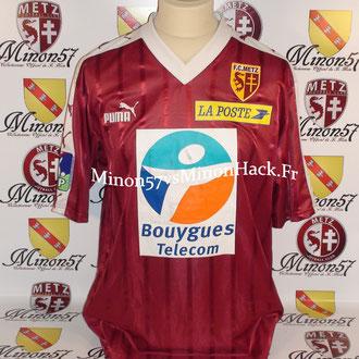 Maillot Porté S.BORBICONI Coupe de la ligue 2003 FC METZ