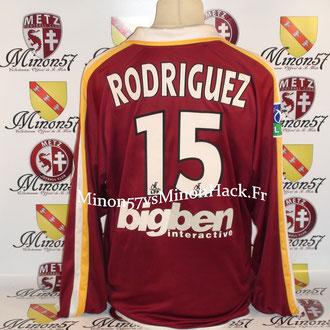 maillot porté RODRIGUEZ Saison 2003/2004 FC METZ