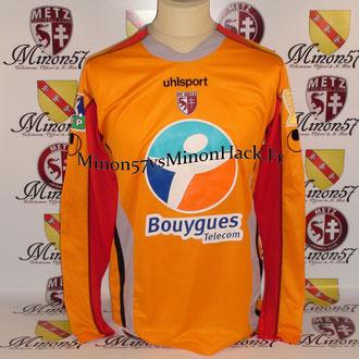 Maillot Porté MARICHEZ Coupe de la ligue 2007 FC METZ