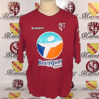 Maillot Porté CARDY Coupe de la ligue 2007 FC METZ