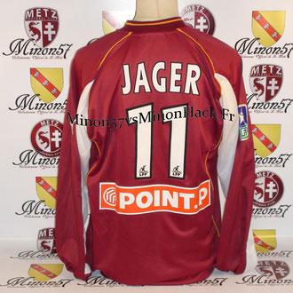 Maillot Porté JAGER Coupe de la ligue 2003 FC METZ