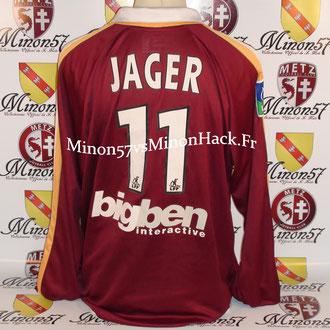 maillot porté JAGER Saison 2003/2004 FC METZ