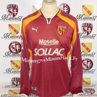 maillot porté TOYES Saison 2000/2001 FC METZ