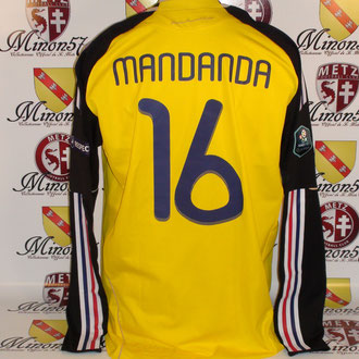 Maillot Porté par Steve MANDANDA France vs Luxembourg 2010